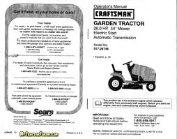 User Manuals for Craftsman Products